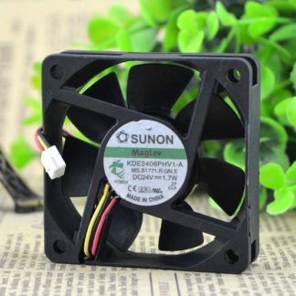 Wholesale original SUNON KDE2406PHV1-A DC 24V 1.7W 6015 60*60*15mm 3-line mute Cooling fan
