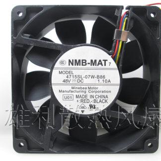 Free Delivery. New original 4715SL-07W-B86 12038 48V 1.10A 12CM violent cooling fan
