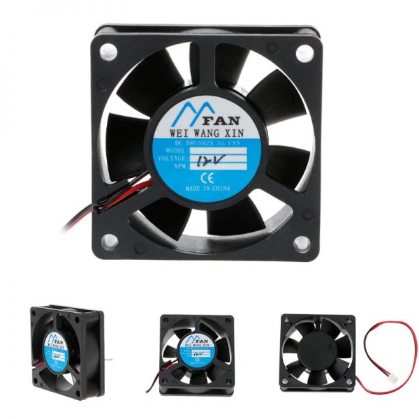 60mm*60mm*20mm DC 12V 2 Pin Cooler Brushless Axial PC CPU Case Cooling Fan 6020