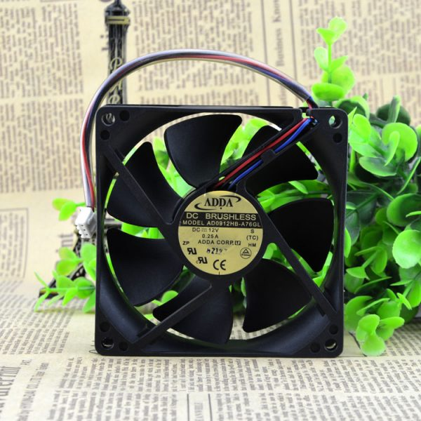 Free Delivery. 9 cm 9025 12 v 0.25 A AD0912HB - A76GL chassis power supply cooling fan