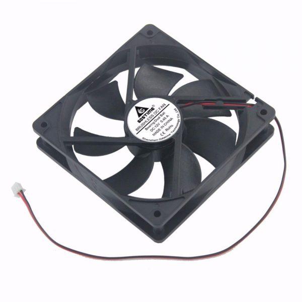 2pcs Gdstime 120mm x 25mm PC Case Fan 12V Two Ball 12025 DC Brushless Industrial Machine Cooler Cooling Fan 120x25mm 12cm