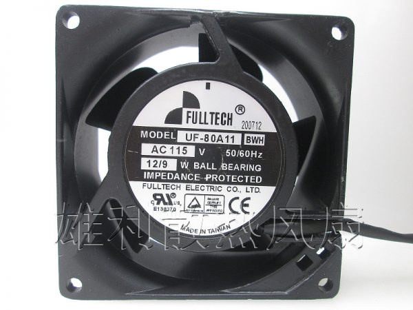 Free Delivery.UF80A11BTH BWH 115V 9 / 12W 8cm 8038 cabinet fan