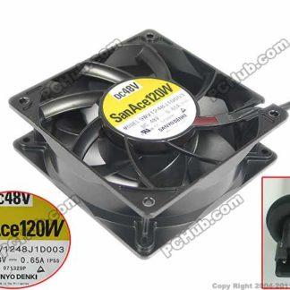 SANYO 9WV1248J1D003 DC 48V 0.65A, 120x120x38mm Server Square fan