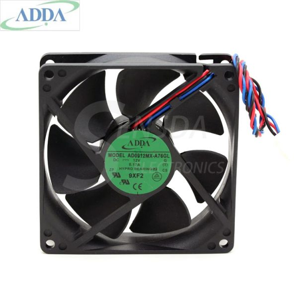 Original ADDA AD0912MX-A76GL G (TCDL1) PN:X755M DC 12V 0.17A Server Square cooling Fans 3-wire