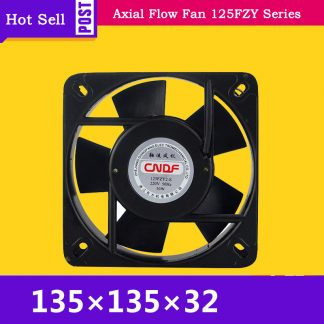 110V AC 0.34A 30W 2400RPM Cooling Radiator Axial Fan 125FZY1-S Ventilation and Air Change FZY for Welding Machine, CNC lathe