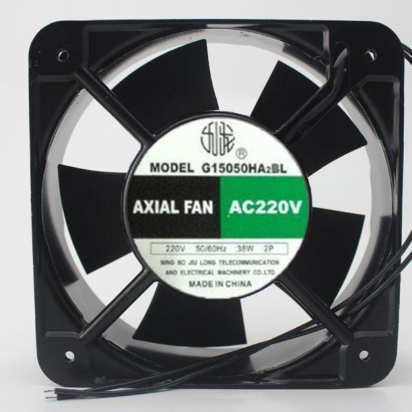 Original G15050HA2BL 220V 150 * 150 * 50mm Industrial Cooling Fan Cabinet Chassis Fan
