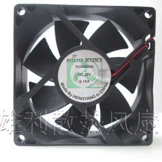 Free Delivery.RDH8025S 24V 0.18A 80 * 80 * 25 8CM cooling fan