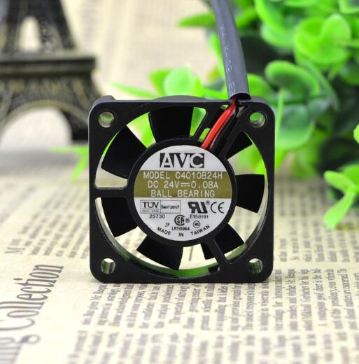 AVC C4010B24H DC 24V 0.08A 4CM 40*40*10 2-wire double ball printer inverter cooling fan