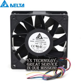 Delta New PFB1248UHE 120*120*38mm 12038 48V 1.20A four winds of wire PWM fan for