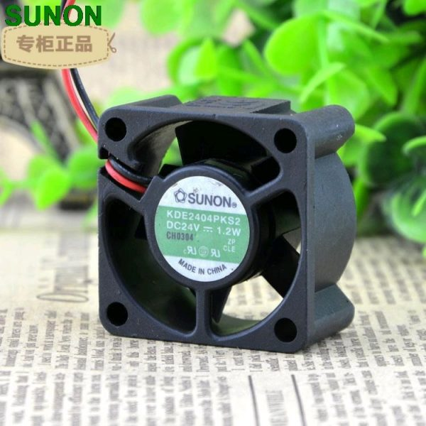 Original SUNON KDE2404PKS2 DC 24V 1.2W 4CM 4020 40x40x20mm 2 Lines Magnetic Bearing HYPRO Cooling Fan