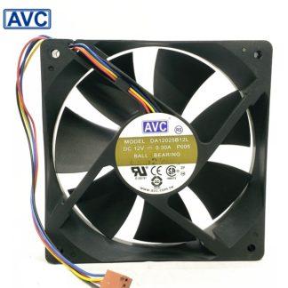 AVC Original DA12025B12L P005 12V 0.3A 12cm 12025 pin PWM fan cooling fan 10pcs/lot