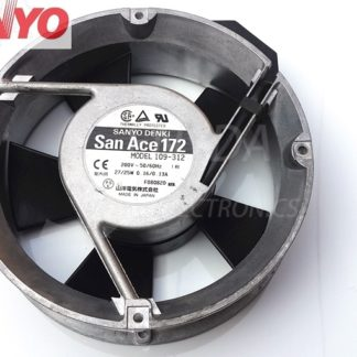 SANYO 109-312 AC 200V 27/25W 17050 17cm cabinet server inverter computer pc case cooling fans