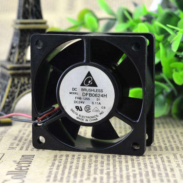 Free Delivery. DFB0624H 24 v 0.11 A 6 cm 6025 2 line inverter fan