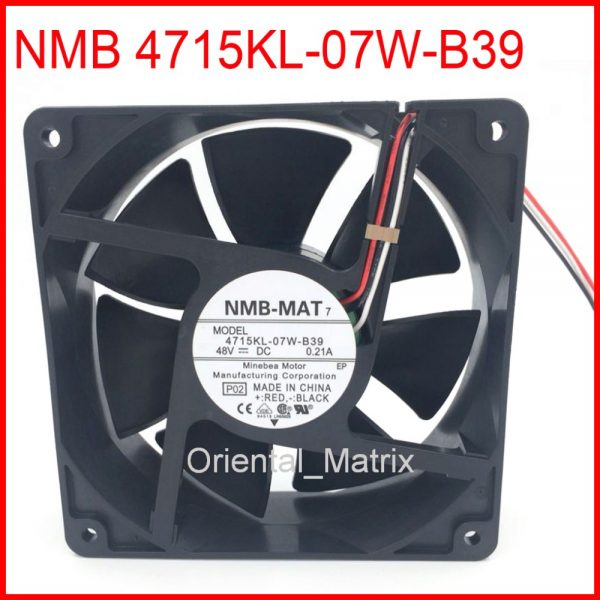 Free Shipping NMB-MAT 4715KL-07W-B39 12038 48V 0.21A Cooler Cooling Fan
