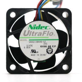 Original NIDEC U40G12BHA5-57 4020 40x40x20mm 4cm DC 12V 0.08A ultraflo quiet four wire PWM cooling fan