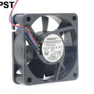 Original PAPST TYP 512 F DC 12V 0.85A 85mA 1.0W 5CM 5015 3 wire cooling fan