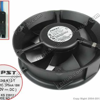 papst TYP 6248 N3T DC 48V 18W, 172x172x50mm 5-wire, 5 Connector Server Round fan