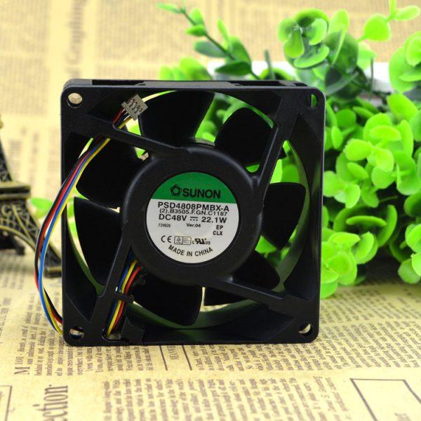 Free Delivery. 48 v PSD4808PMBX - A new original shaft diaspora heat blower fan 8038 radiator