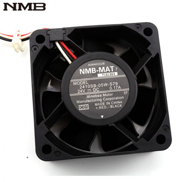 Original NMB 6CM 6025 2410SB-05W-S79 60*60*25mm DC 24V 0.17A inverter cooling fan
