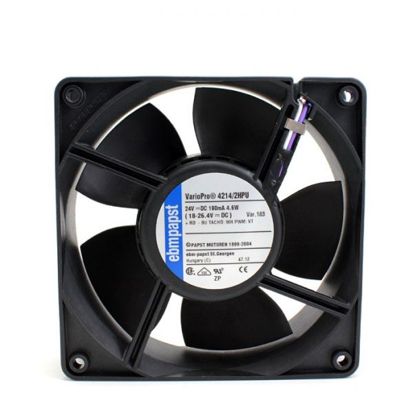 New original 4214 / 2HPU 12038 24V 190mA 4-wire PWM waterproof cooling fan
