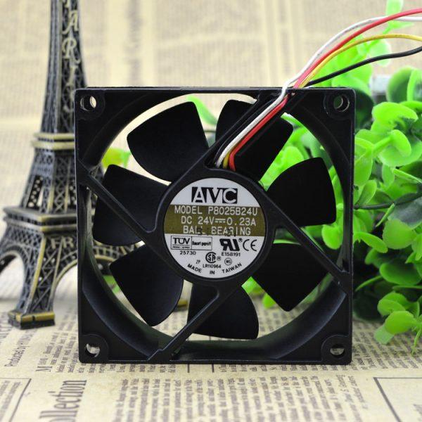 New original 8 cm 8025 24V 0.23a inverter industrial computer cooling fan P8025B24U