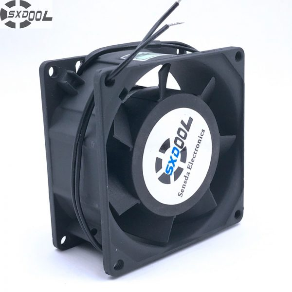 high quality SXDOOL SJ8038HA2 8cm 80mm 8038 AC 220v 50/60hz 0.10A cooling fan 80X80X38 mm