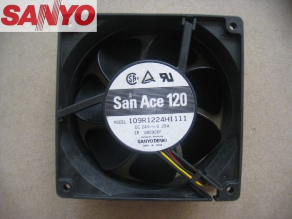 Sanyo 109R1224H1111 109R1224H1011 12038 DC24V 0.25A server inverter cooling fan