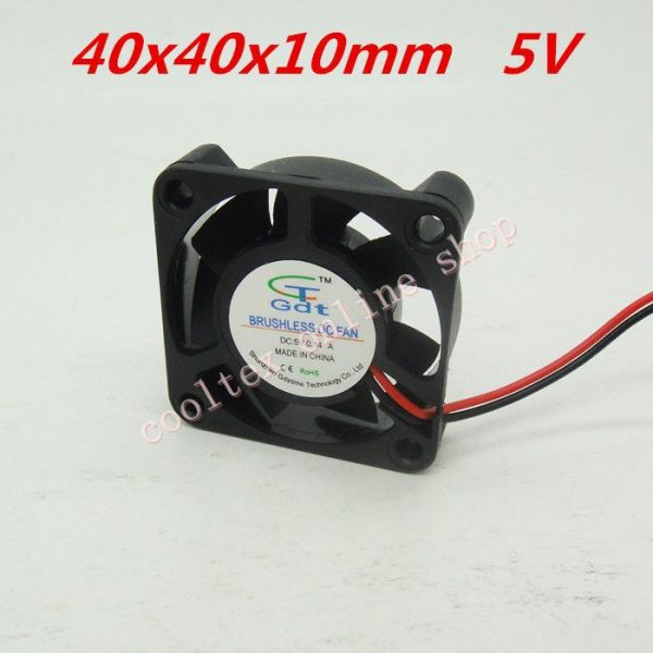3pcs/lot 40x40x10mm 4010 fans 5 Volt Brushless DC Fans for heatsink cooler cooling radiator