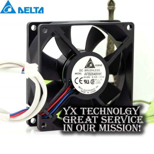 Delta new DELTA AFB0848HH 8025 8CM 48V 0.12A double ball Server fan