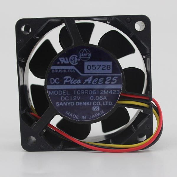 Original 109R0612M423 6025 12v 0.06A 6CM ultra-quiet speed cooling fan 3P