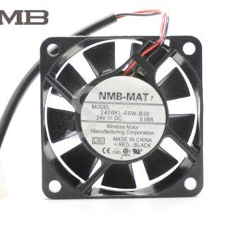 Original NMB 2406KL-05W-B30 60X60X15 mm 6015 60mm 6cm DC 24V 0.08A quiet server Cooling Fan