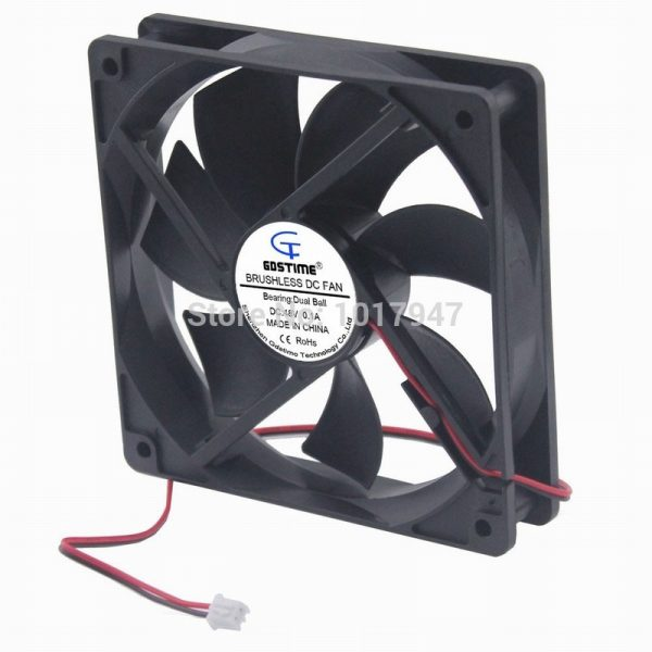 1Pieces Gdstime DC 48V 2Pin 120mm 12cm 120x25mm 12025B Ball Brushless Cooling Cooler Fan