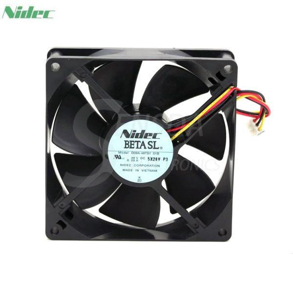 Original nidec D09A-48TS1 01B DC 48v 0.09a 9cm 9025 3pin case axial cooling fan cooler
