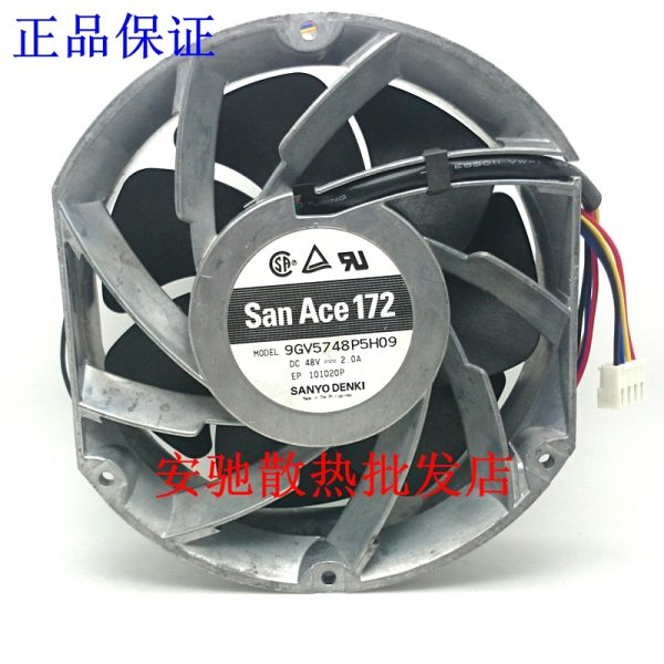 Sanyo Denki 9GV5748P5H09 Server Round Fan DC 48V 2.0A 170x150x50mm 4-wire