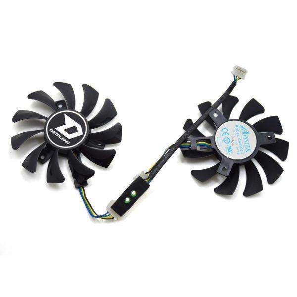 New Original 75mm APISTEK GA81O2U GA8102U PFTB DC 12V 0.38A 4Pin Graphics Video Card Cooling Daul Fan