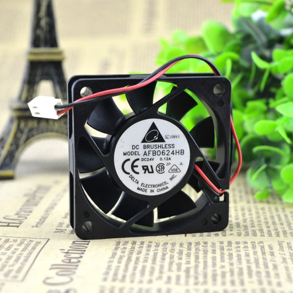 New original 6cm AFB0624HB 6015 24V 0.12A industrial inverter cooling fan