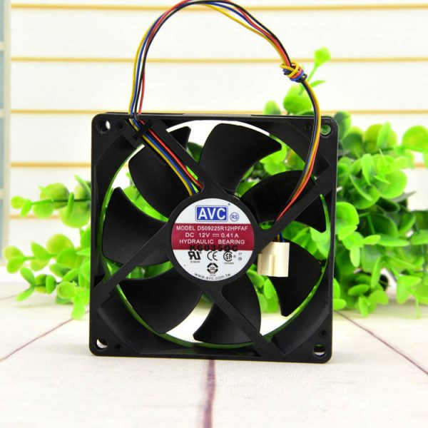 Free Delivery original 9cm DS09225R12H 9025 0.41A 12V 4 pin PWM big fan
