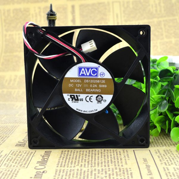 AVC DS12025B12E 120*120*25 mm 4-pin PWM chassis power CPU computer cooling fan