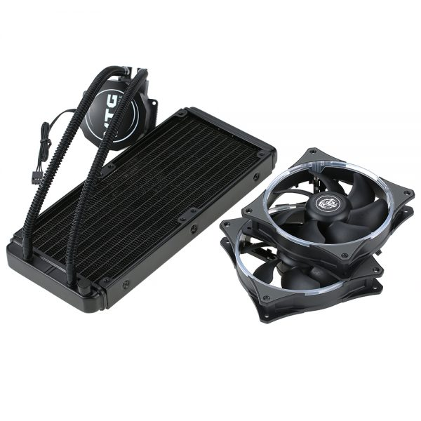 VTG240 Liquid Freezer Water Liquid Cooling System CPU Cooler Fluid Dynamic Bearing 120mm Dual Fans Blue LED Light For Intel CPU