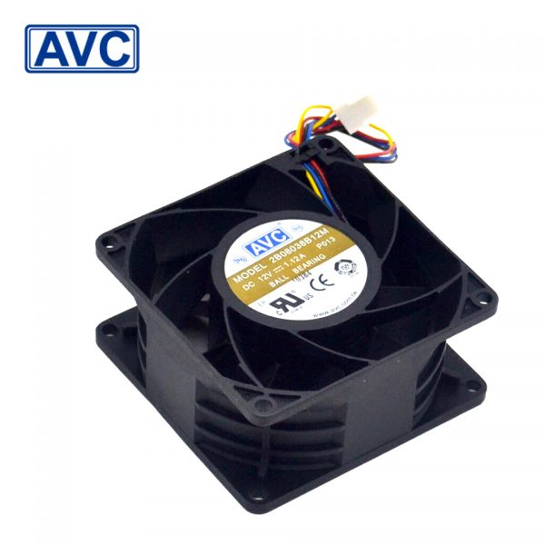AVC Original 8CM 2B08038B12M 8038 1.12A 12V PWM speed control violent fan 80 * 80 * 38mm