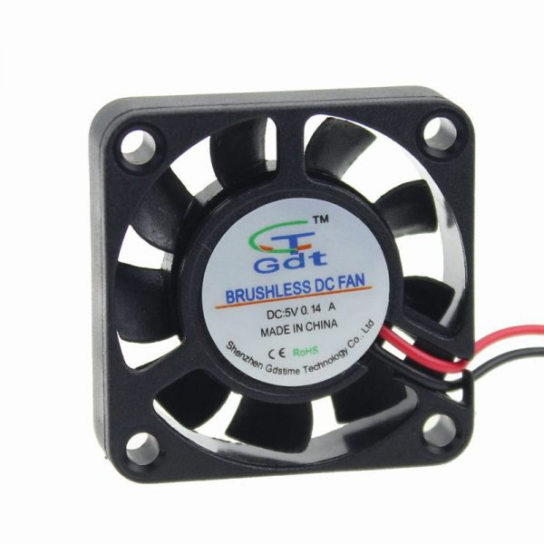 10PCS/Lot Free Shipping GDT Energy-saving 4010s 5v 2pin 9 Blades 40mm 4CM 40mm x 10mm Axial Fan Cooler