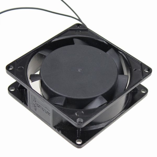 Gdstime 1 pcs 220V 240V 80mm x 25mm PC Case 80x80mm Industrial Exhaust Metal AC Cooling Fan 8025