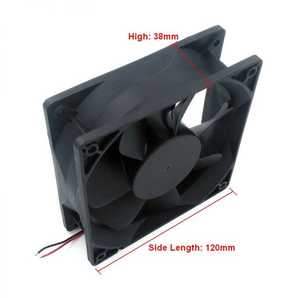 New Original RUILIAN SCIENCE RDH1238B 12V 0.6A 120*120*38mm Cooling Fan for Computer Case Network Cabinet Industrial Equipment