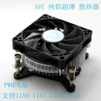 New Original AVC for Intel 1150 1151 1156 1155 Ultrathin aluminum radiator 4 Wires PWM mute Computer CPU Cooler fan