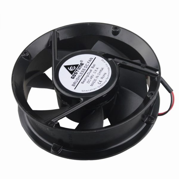 10 pcs Gdstime Ball Bearing 48V Industrial DC Fan 170mm x 50mm Circle Cooling Cooler Metal Case 172mm x 51mm 2Pin 17cm 17251