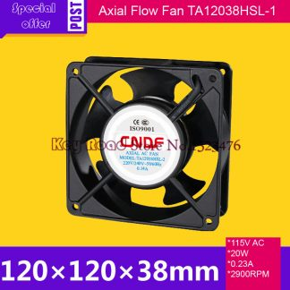 115 V AC 60HZ 0.23A 20W 2900RPM 120*38mm Anticorrosion Cooling Radiator Axial Fan TA12038HSL-1 FZY for Electroplate Factory