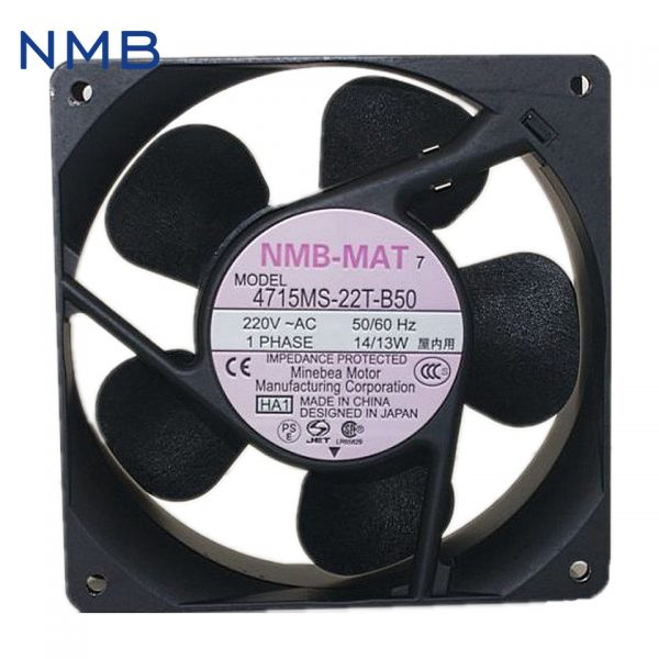 NMB new original converter fan fan 220V UPS 4715MS-22T-B50 Cabinet power supply fan 119*119*38mm