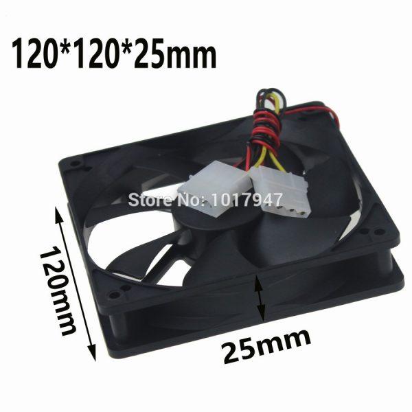 5Pieces LOT Gdstime 120mm 120*120*25mm 12025S DC 12V 4Pin Cooler Computer Cooling Fan