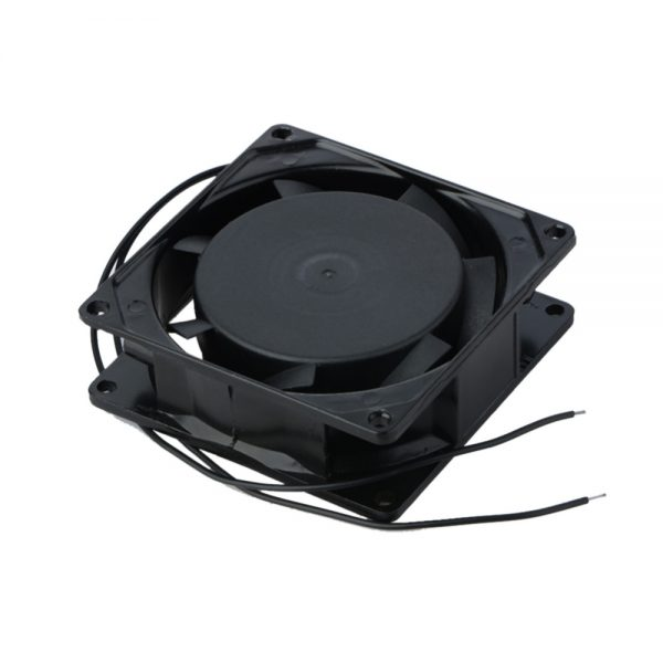 2 Wire AC 220V 240V 8cm 80mm x 80mm x 25mm Metal Brushless Cooling Professional Industrial Fan
