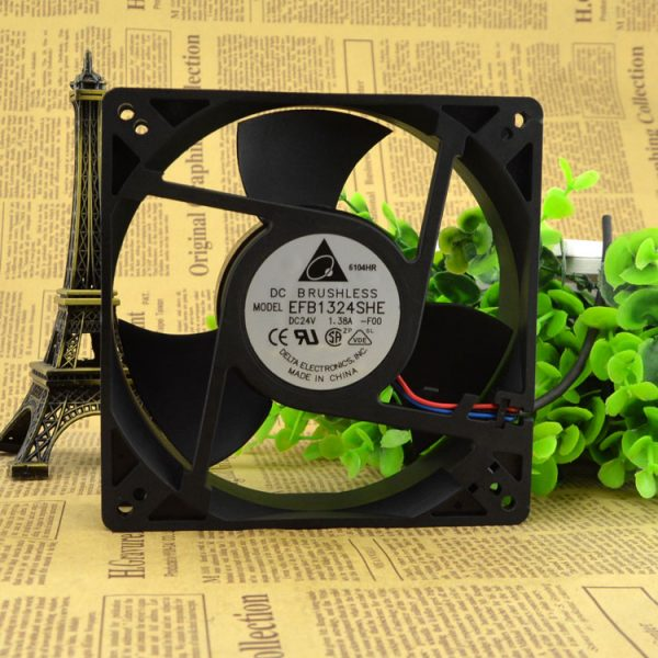 New original EFB1324SHE 24V 1.38A 127 * 127 * 38MM high wind axial flow inverter fan